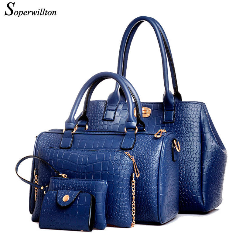 Soperwillton Brand New Women Bag Alligator Print Handbags Shoulder Bag PU Leather Female bags China and Russia Warehouse #669(China (Mainland))