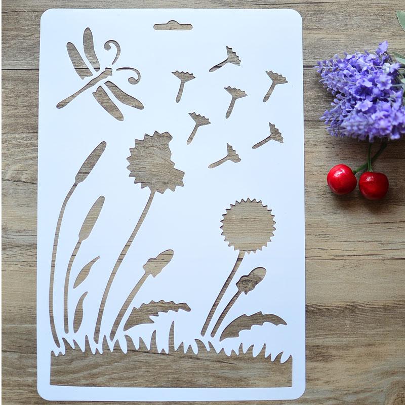 Acquista all 39 ingrosso online fiore stencil da parete da for Carte decorative per pareti