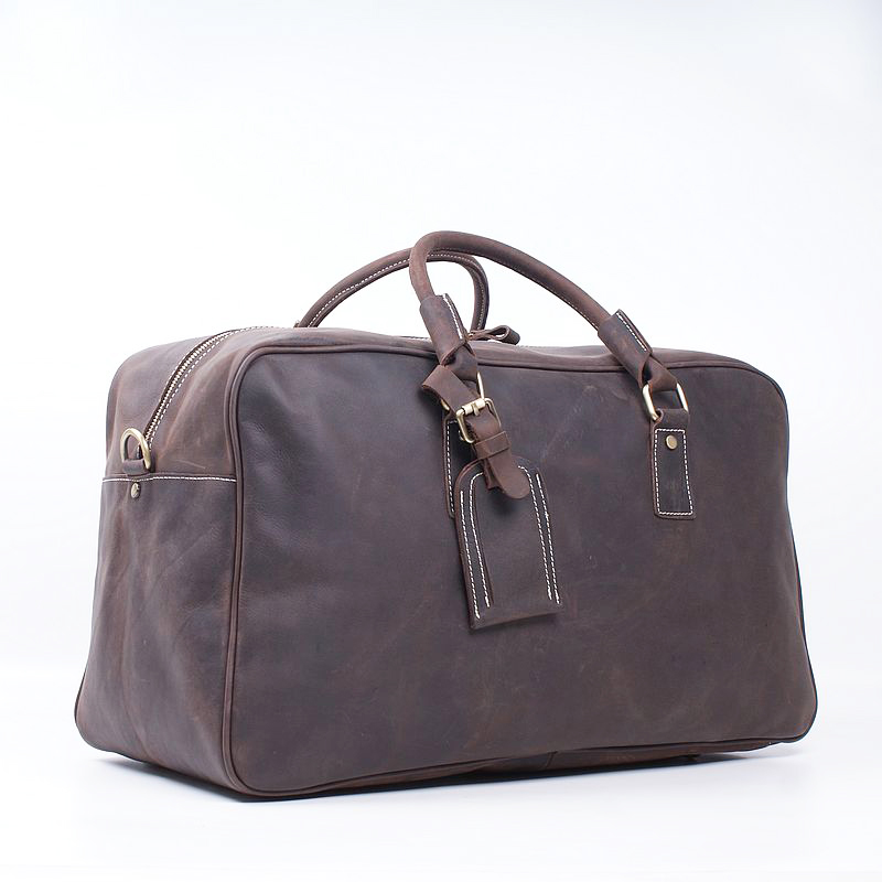 2016 new Genuine leather men's bag Head layer cowhide bag men hand bag crazy horse leather large capacity  luggage bags