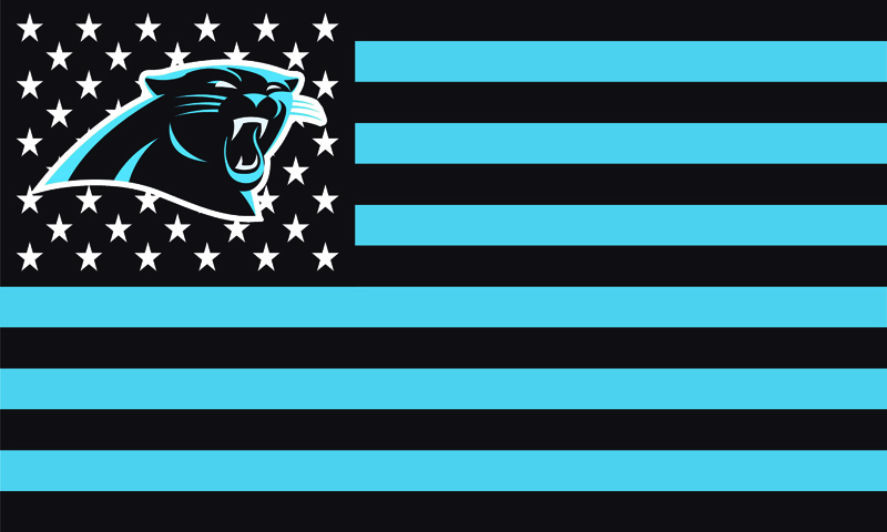 New Carolina Panthers With Stars and Stripes House Banner Flag 3X5FT NFL Flags F-00053(China (Mainland))