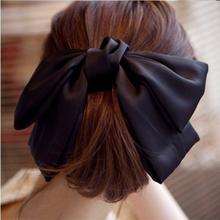 Elegant Silky Ribbon Big Bows Bowknot Hair Clips Barrettes for Girls Headwear Hair Accessories for Women(China (Mainland))