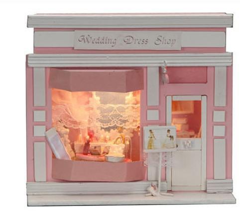 europ enne boutique miniature cr ative en bois bricolage. Black Bedroom Furniture Sets. Home Design Ideas