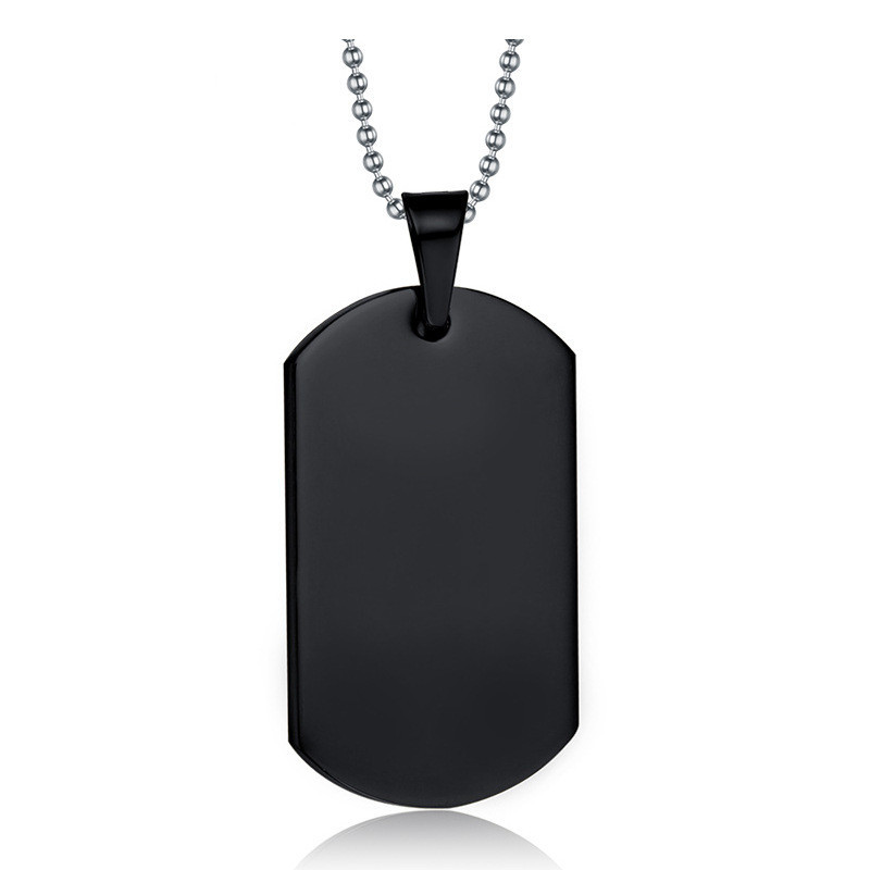 IDoDo Black Stainless Steel Charm Men Pendant Necklaces & Pendants Fashion Jewelry - store