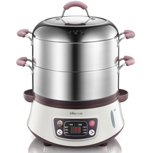 Bear Multifunctional Stainless Steel Electric Steamer Set Timer 8 Liters Large Capacity Electric Food Steamer DZG-B80A1(China (Mainland))