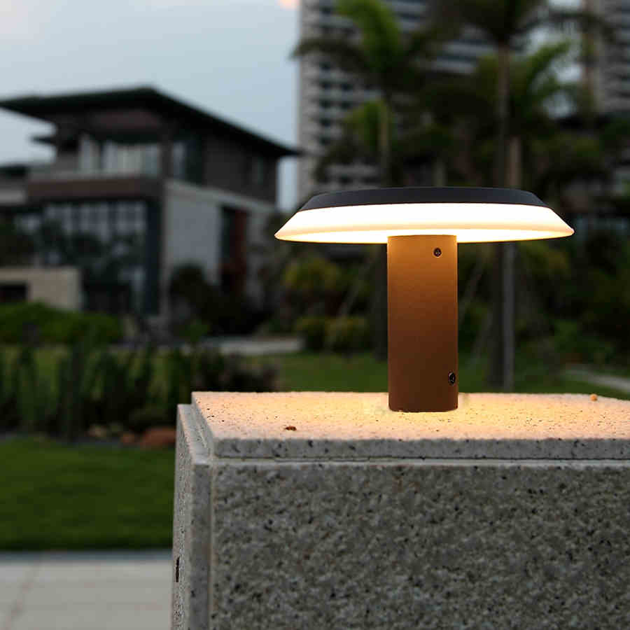 Online buy wholesale outdoor pillar lights from china for Lampe led pour exterieur