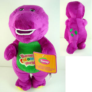 "1PC/Lot 11"" /30cm Musical Purple Dinosaur Barney Plush baby Toy The Dinosaur Sing song Good Toys Doll for children Kids Gift(China (Mainland))"