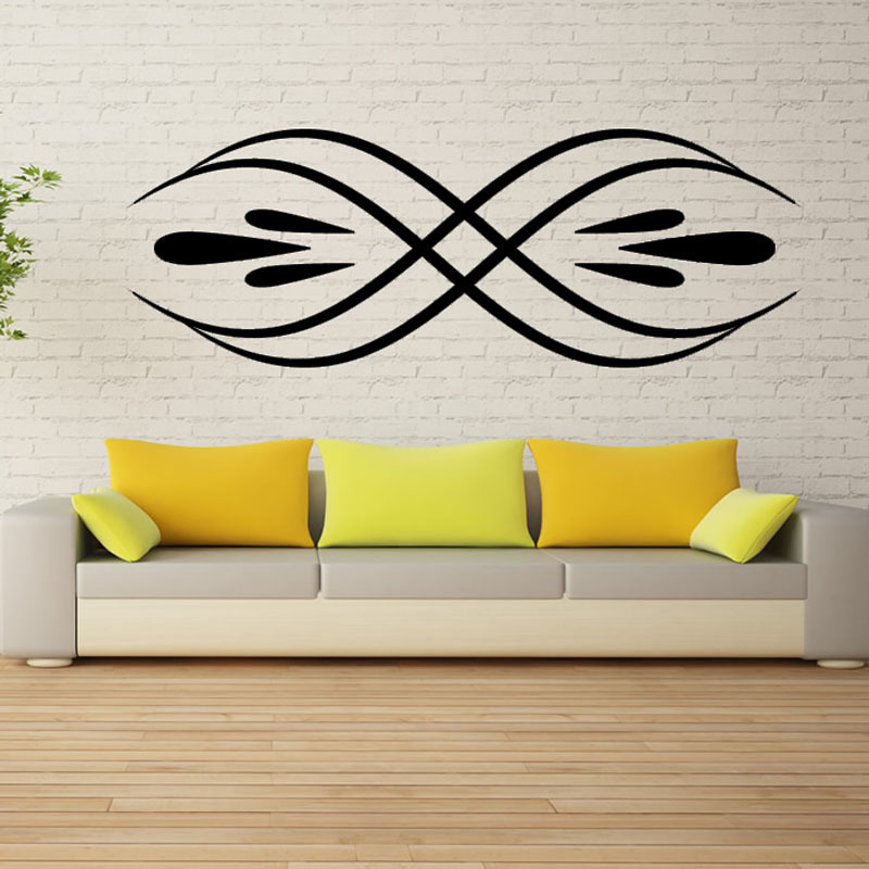 Fashion Simple Home Decor Waterproof Removable Art Vinyl Bilateral Wall Sticker For Living Room
