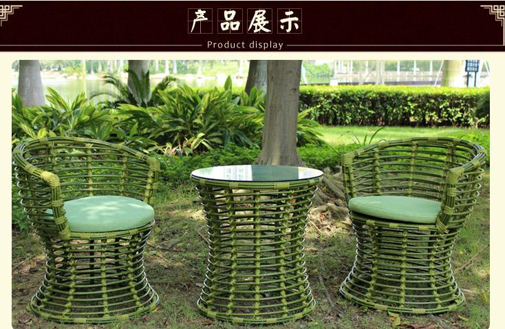 freeshipping 3pcs in 1set imitation bamboo rattan chair Fashion contracted the balcony Outdoor leisure furniture(China (Mainland))