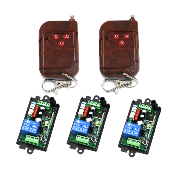 220V 10A RF Wireless Remote Control Switch 2Transmitter&amp;3Receiver 1CH for Light Lamp Control Toggle Momentary SKU: 5423<br><br>Aliexpress