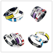 Korean version of the fire dragon personality titanium steel flame silicone bracelets tide male fashion  men jewelry(China (Mainland))