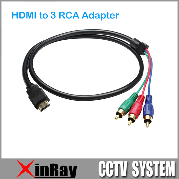 5FT 1.5M HDMI to 3 RCA Video AV TV Composite Adapter Converter 3RCA RGB Cable For XBOX 360 for PS3 4 HDTV 1080 DX12(China (Mainland))