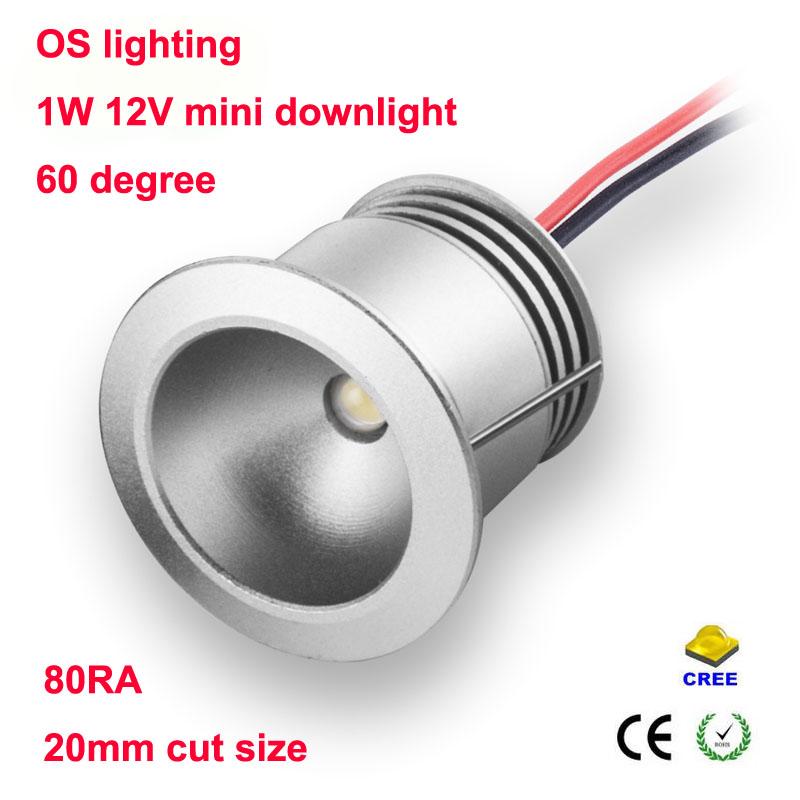 9pcs/lot Mini led downlight 1W 12v cabinet lamp (hole size:20mm),LED Star light CE RoHS Certified,LED Ceiling Spot Light(China (Mainland))