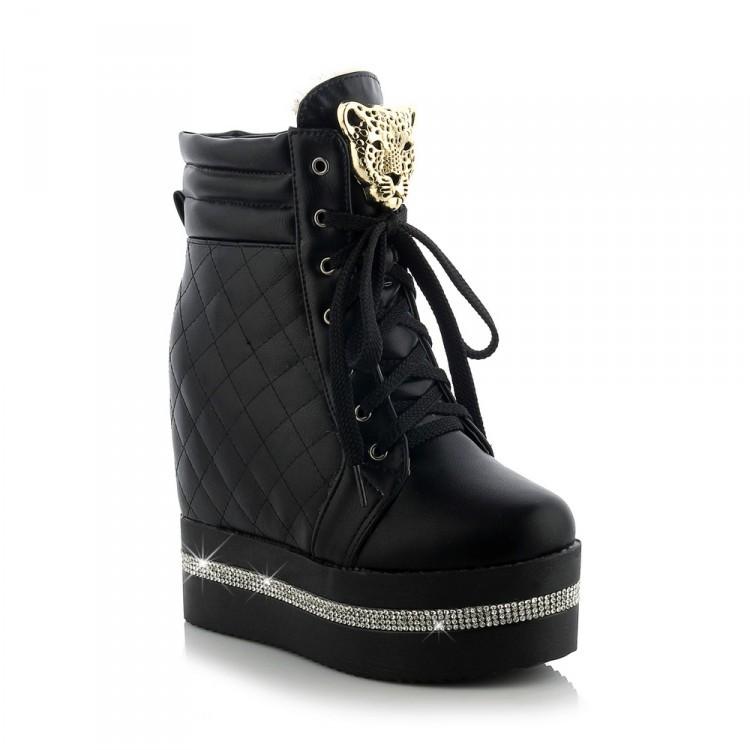 acheter 2016 femmes hiver automne lacets chaussures mode bottes talons hauts. Black Bedroom Furniture Sets. Home Design Ideas