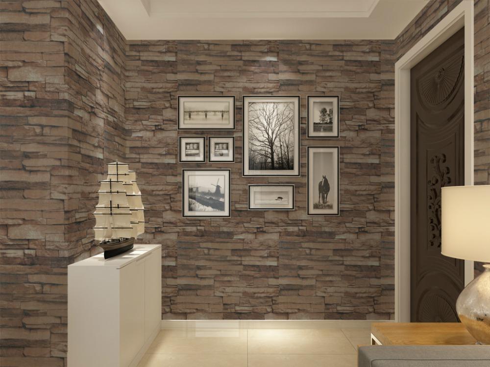 Woonkamer stenen behang - Modern behang voor volwassen kamer ...