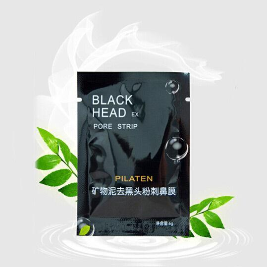 100pcs PILATEN Face Care Facial Minerals Conk Nose Blackhead Remover Mask Cleanser ,Deep Cleansing Black Head EX Pore Strip(China (Mainland))