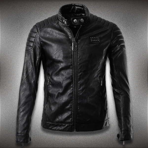 2015 new winter Slim retro rock Harley motorcycle leather jacket men short paragraph personality black zipper jacket men(China (Mainland))
