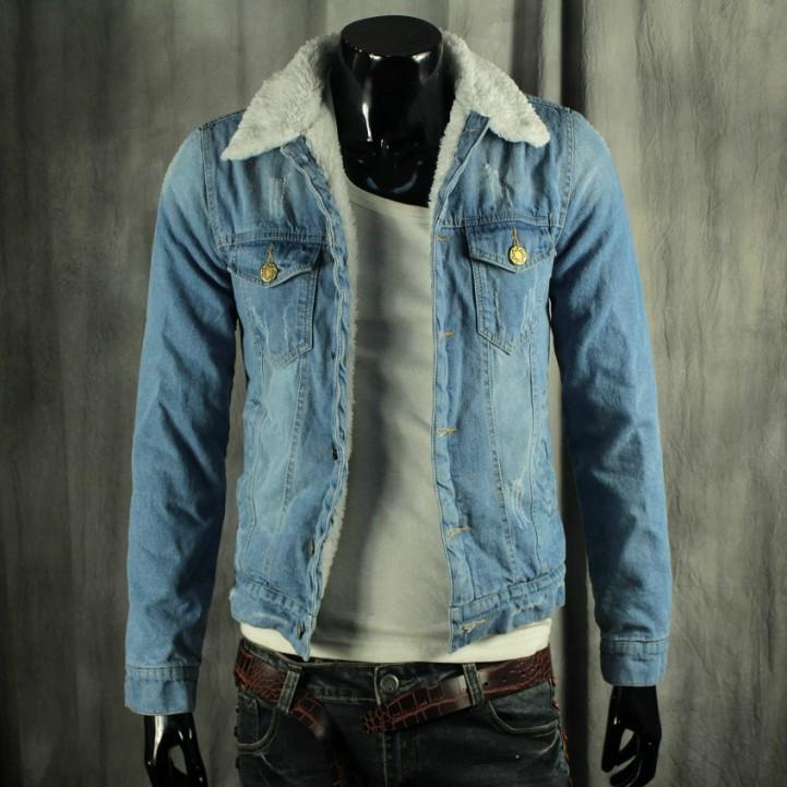 Купить Джинсовую Куртку С Меховым Воротником Мужскую