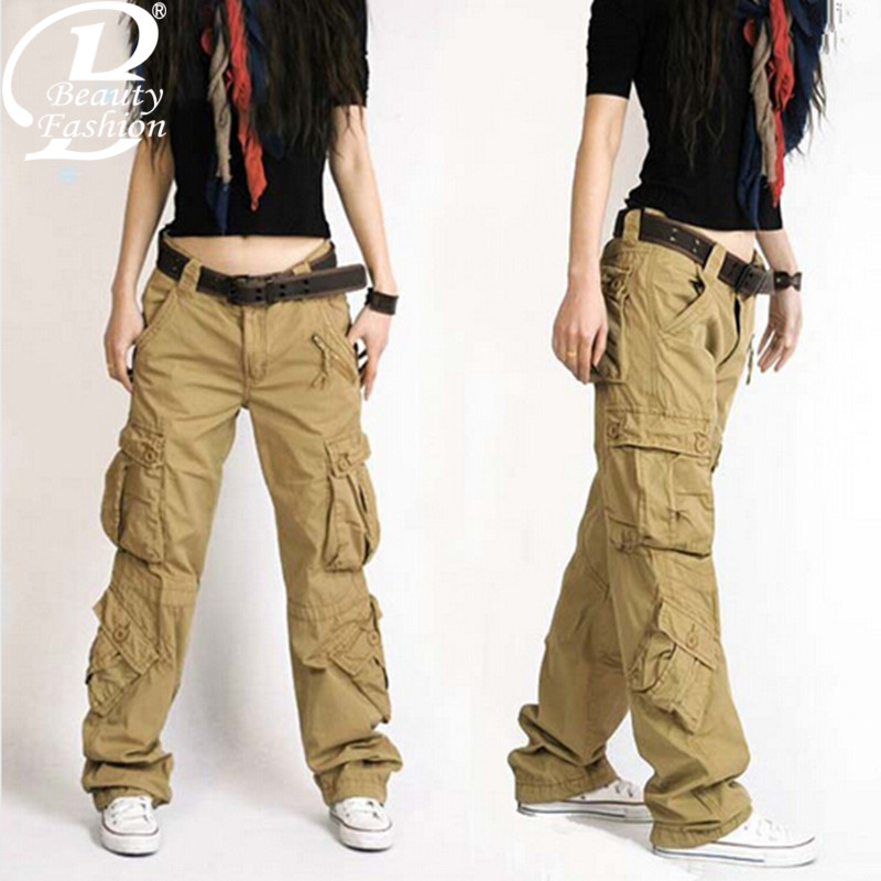 Innovative Details About Womens Army Green Baggy Loose Cargo Pants Wide Boyfriend