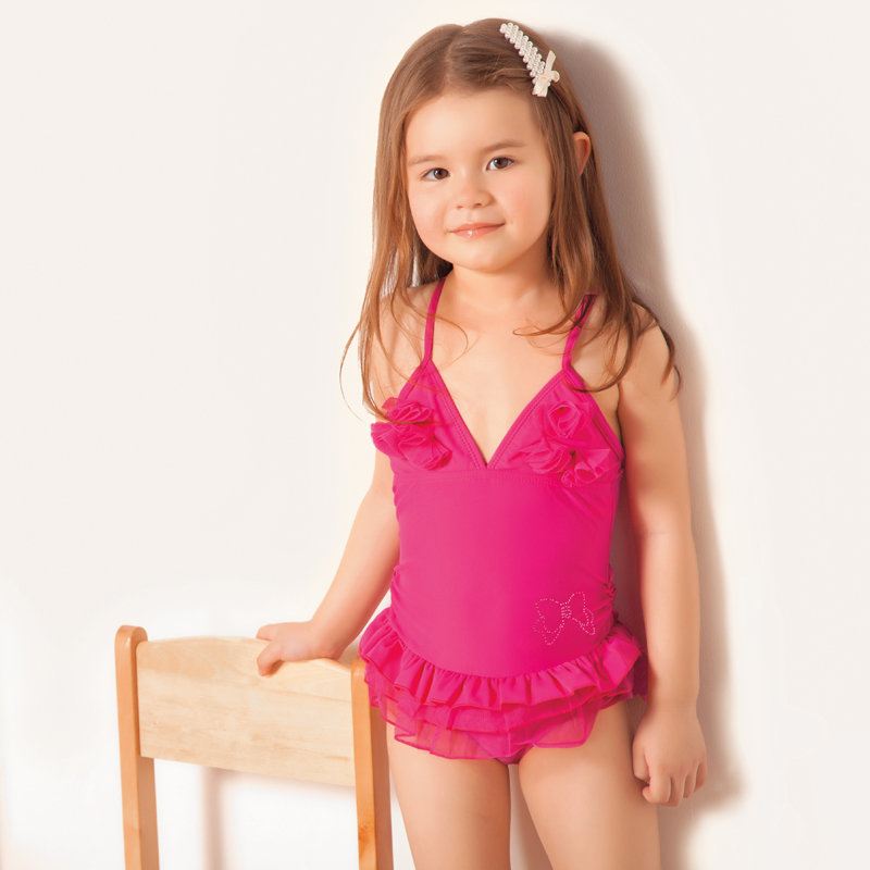 Girls' Swimwear - Swimsuits. Your daughter is sure to make a splash when she steps out in one of our beautiful girls bathing suits. Choose from either one-piece or two-piece styles in a variety of designs to perfectly complement your daughter's personality.