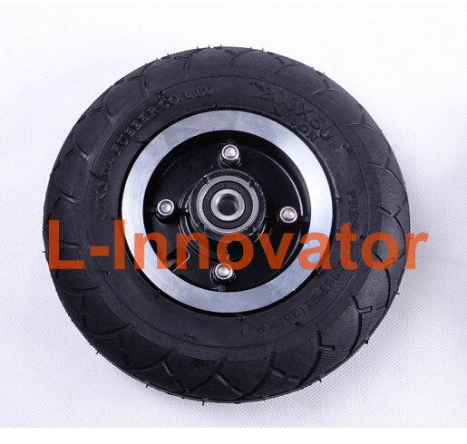 8 Inch Scooter Wheel Aluminium Alloy Wheel Hub Pneumatic Tire With Inner Tube 20CM Tyre Inflation Wheel For Electric KickScooter(China (Mainland))