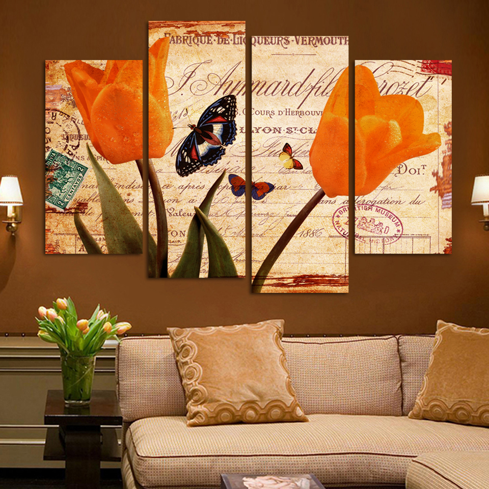 Achetez en Gros toile peintures tulipe 3 pièces en Ligne à ...