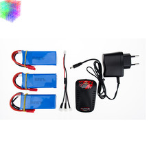 X8C lipo 7.4v 2400mah battery 3pcs and charger for syma X8W X8G rc Quadcopter drone spare part wholesales