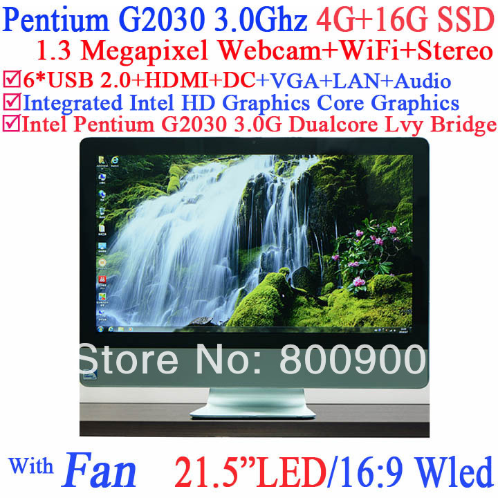 Computer Classroom solution all in one pc 21.5 Intel Pentium G2030 3Ghz WLED HD Screen 1920*1080 4G RAM 16G SSD Windows Linux<br><br>Aliexpress