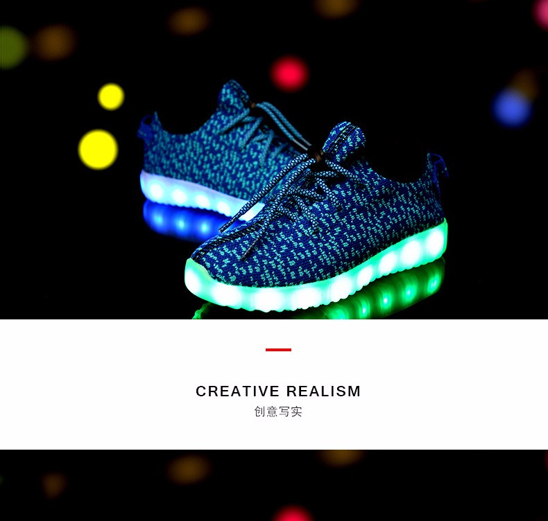 2016Hot LED lamp seven colors shining shoes,children shoes,can be charged,Good Quality colored lights shoes boys and girls shoes