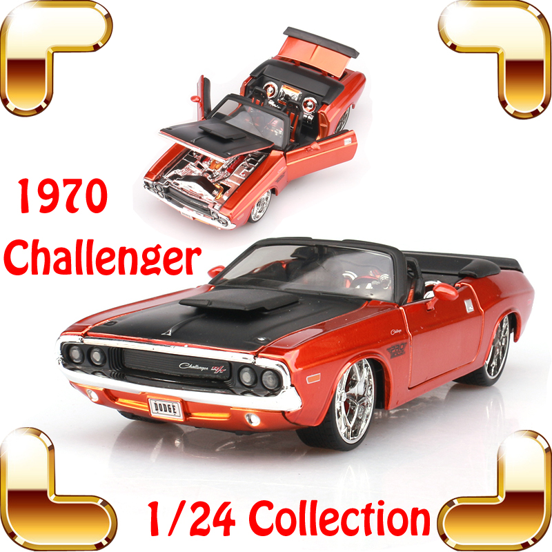 New Year Gift Maisto 1970 Challenger 1/24 Metal Model Roadstar Classic Car Alloy Model Scale Simulation Home Decoration Toys(China (Mainland))