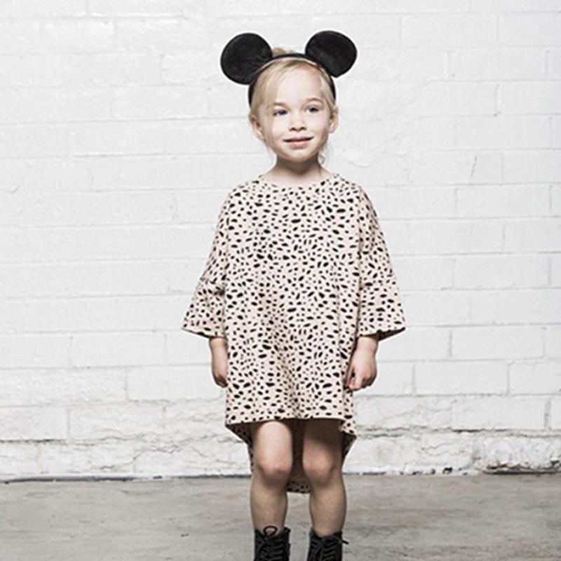 New 2016 Girl Leopard Grain Dress Fashion Girls Clothes 1 4yrs Baby Girl Dresses Toddler Girl