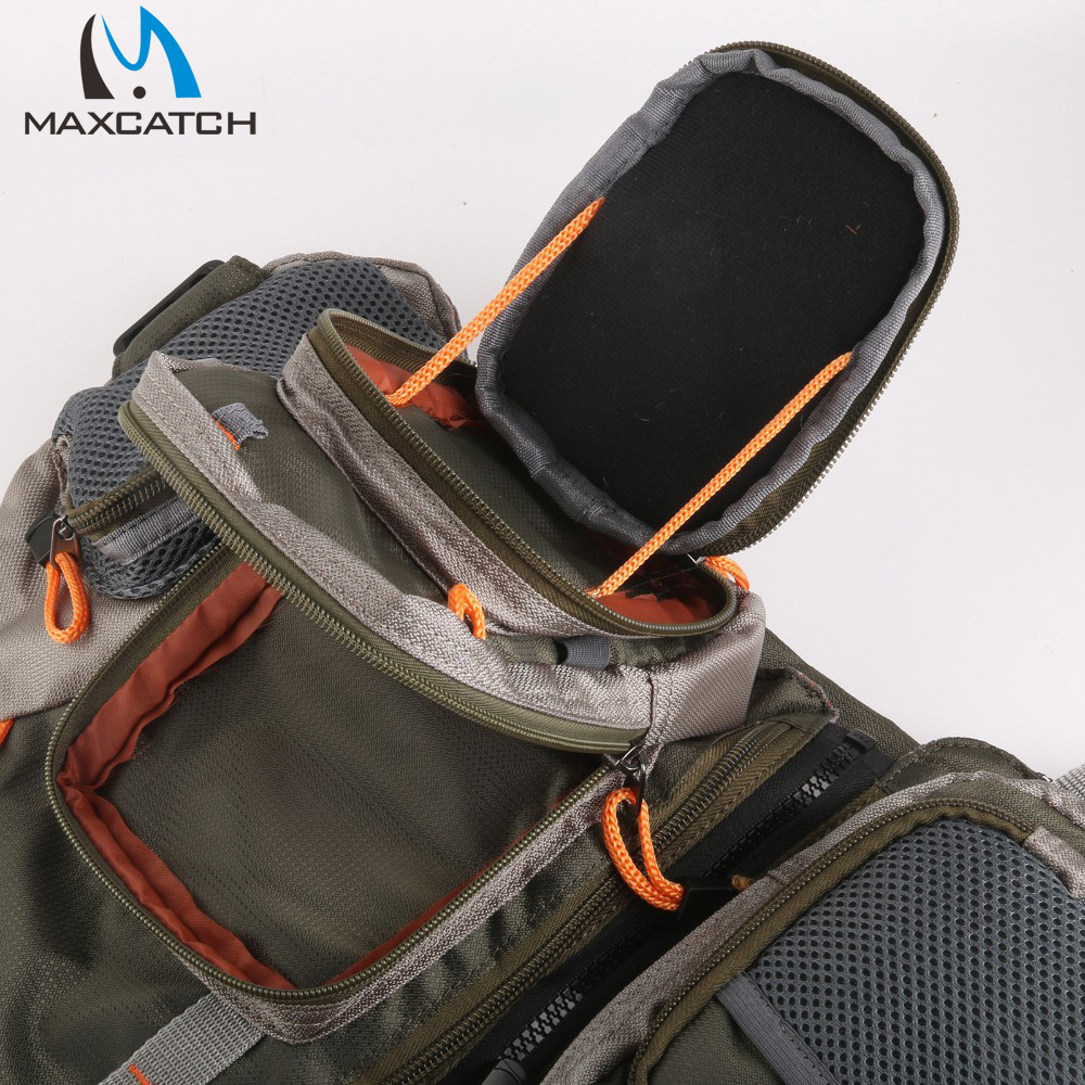 Maxcatch Fly Fishing Vest With Multifunction Pockets Mesh Fishing Backpack Fly Fishing Vest Fly Vest