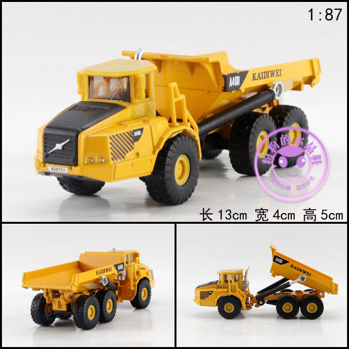 1 PC 13cm Cadeve Alloy truck model 1:87 articulated dump truck transport children gifts(China (Mainland))