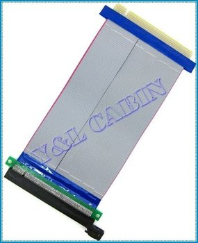 PCI-E PCI Express 16X Riser Card Extender Flexible Extension Cable Ribbon Adapter Converter, Brand New, Free Shipping