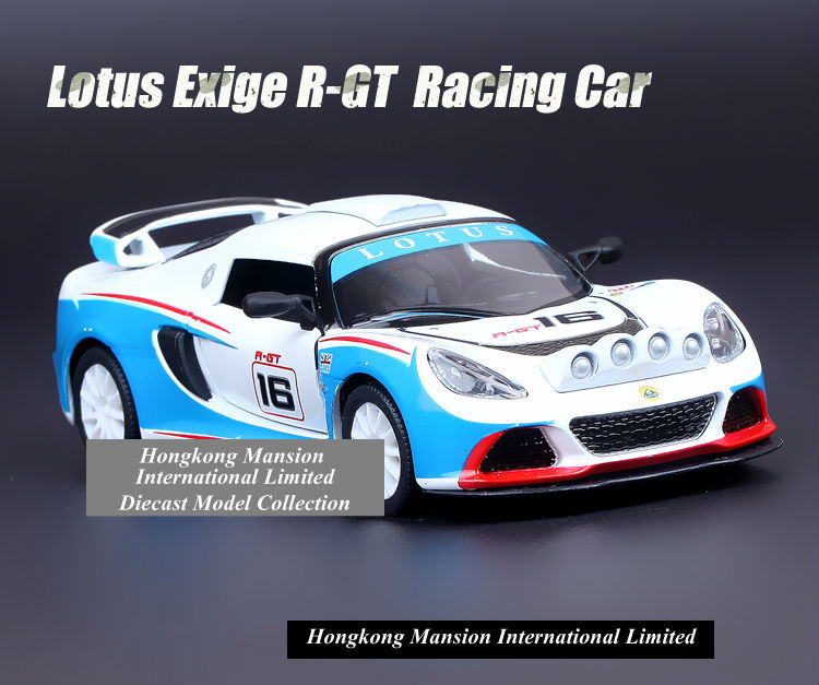 1:36 Scale Alloy Diecast Metal Car Model For Lotus Exige R-GT Racing Car Collection Model Powerful Pull Back Toys Car(China (Mainland))