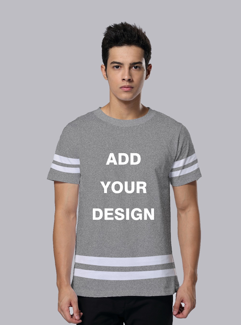 100 cotton t shirt men fashion striated short sleeve t for T shirt design upload picture