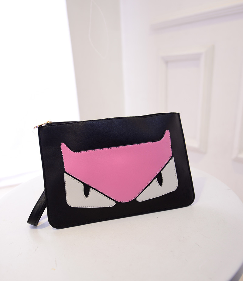 cartoon cat designed lovely bag PU leather 2015 hot selling high quality 5 colors to choose(China (Mainland))