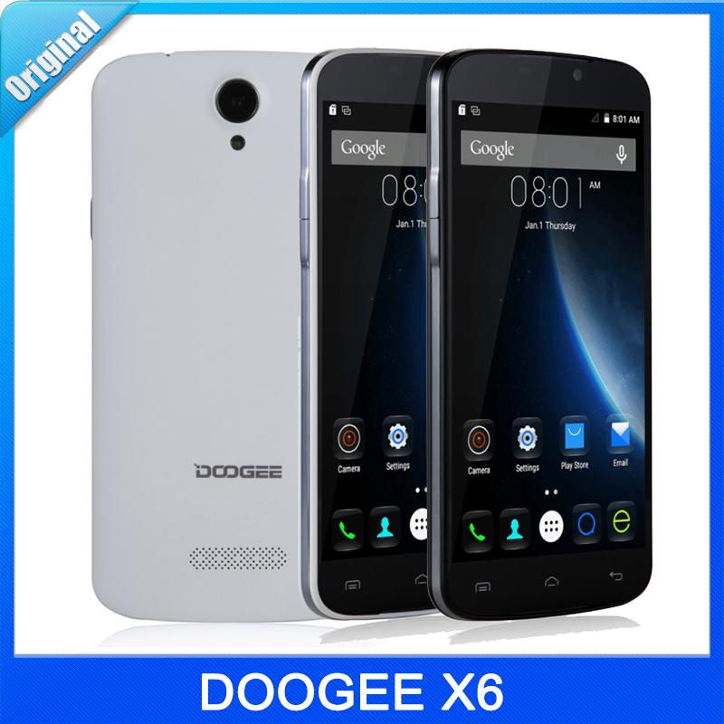 Original DOOGEE X6 5.5''HD Android 5.1 Smartphone MT6580 Quad Core 1.3GHz RAM 1GB ROM 8GB Dual SIM GPS 3000mAh FM WCDMA 3G Phone