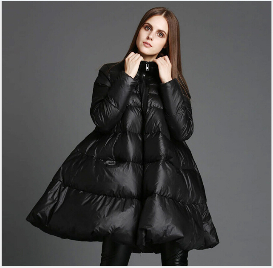 Latest Fashion Women Winter Coat Standing collar Loose Big yards Down jacket Thick Super Warm White duck down Down jacket G2246Одежда и ак�е��уары<br><br><br>Aliexpress