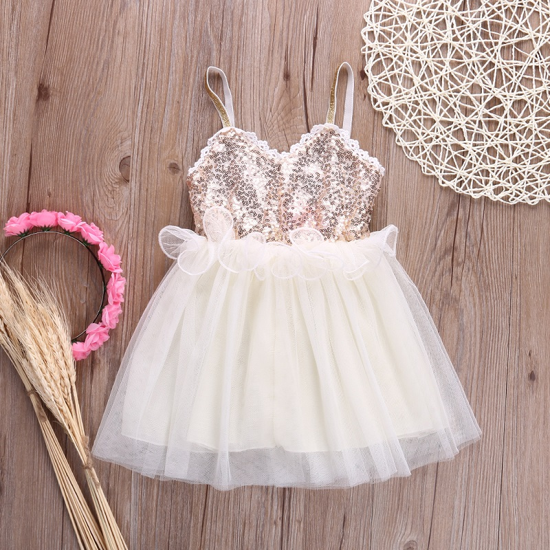 2016 girl lace dress girls summer princess dresses children cute vestidos Sequined Kid Dress Summer Clothing(China (Mainland))