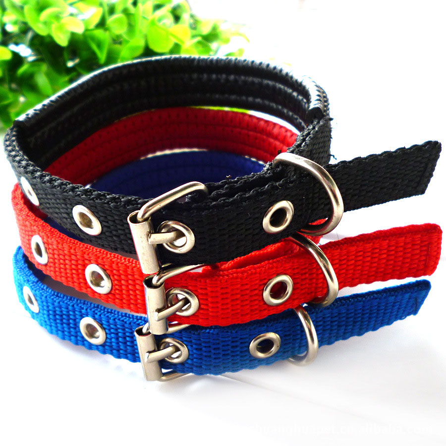 45-70cm Length Dual Layer Super Comfort Foam Cotton Nylon Strap Pet Collar for Small and Big Dog Collars For large Dogs(China (Mainland))