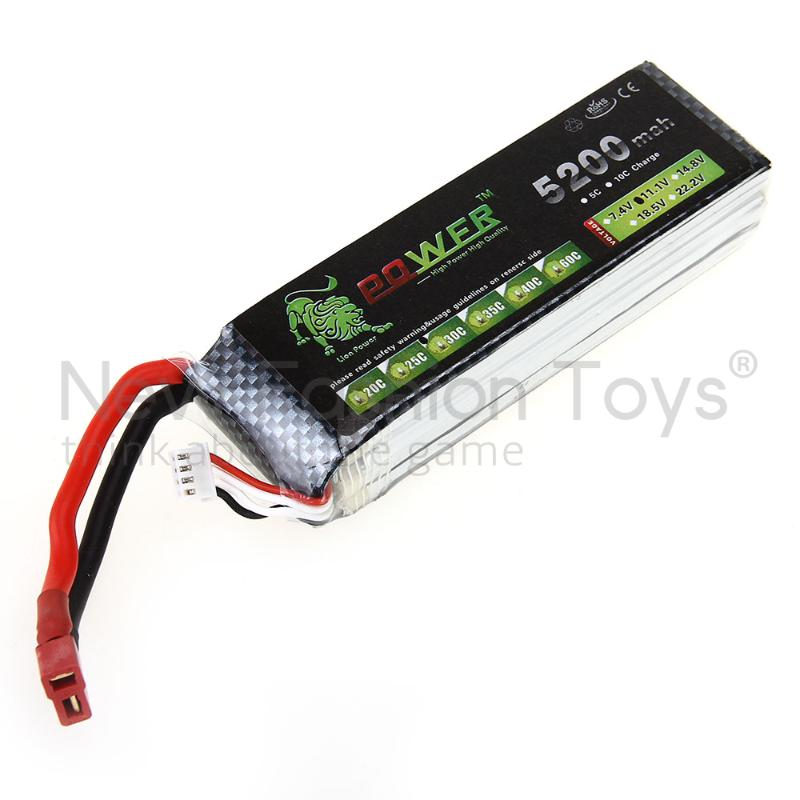 Lion Power 5200MAH 11.1V 30C MAX 40C LiPo Battery T Plug for Aircraft New<br><br>Aliexpress