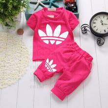 Vestidos New Summer Baby Boys Girls Clothing Set Short SleevesT-Shirt+Pants Kid Clothes Children Sport Suits Babies Bodysuit