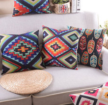 Black luxury vintage geometric pillow/almofadas case throw pillows