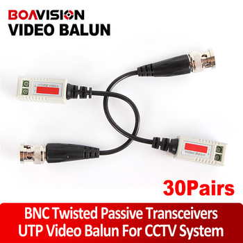 30pairs/lot UTP balun CCTV 1 Channel Passive Video Balun/CAT5 Transceiver Twisted Pair Transmitter