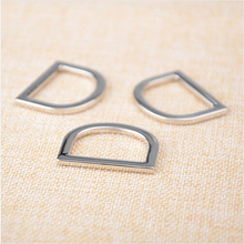 1 Inch ( 25mm inner width ) Flat Silver D Rings Metal Buckle for Bag Making 50pcs/lot(China (Mainland))