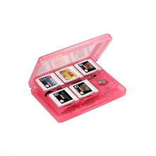 28-in-1 Protective Memory Card Case Holder Box Cover Cartridge Storage for Nintendo 3DS –Pink