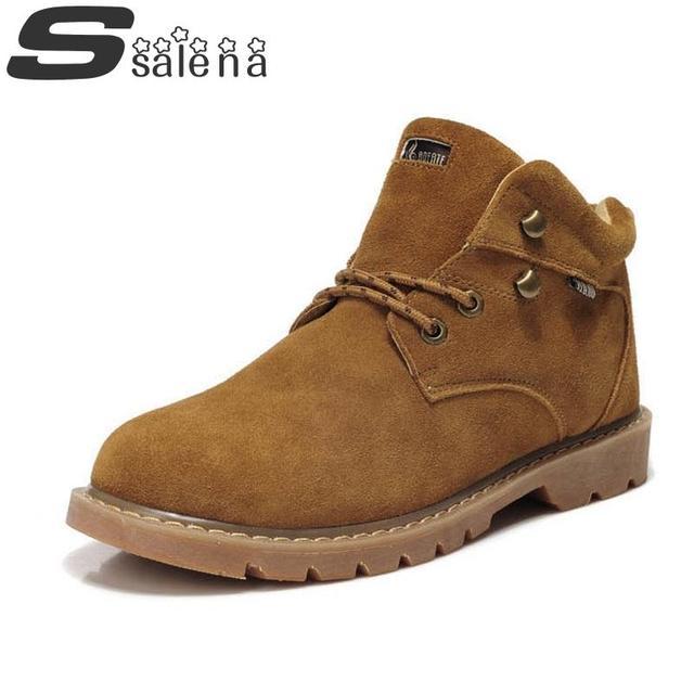 Мужчины сапоги британский стиль натуральная кожа новинка мартин мужчины уличной обуви ...