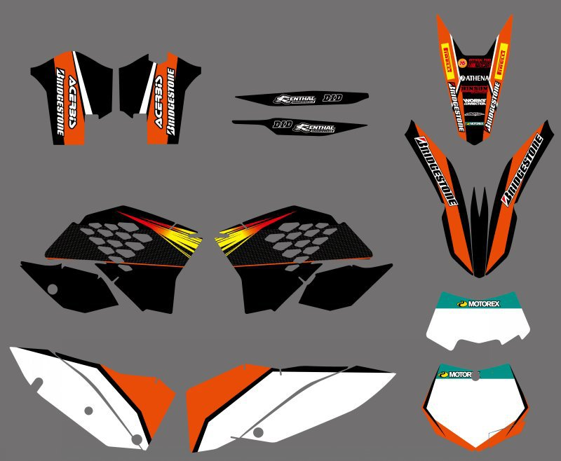 0273 NEW TEAM  GRAPHICS WITH MATCHING BACKGROUNDS FIT FOR  SX XC XC-W EXC Series 2008 2009 2010 2011<br><br>Aliexpress