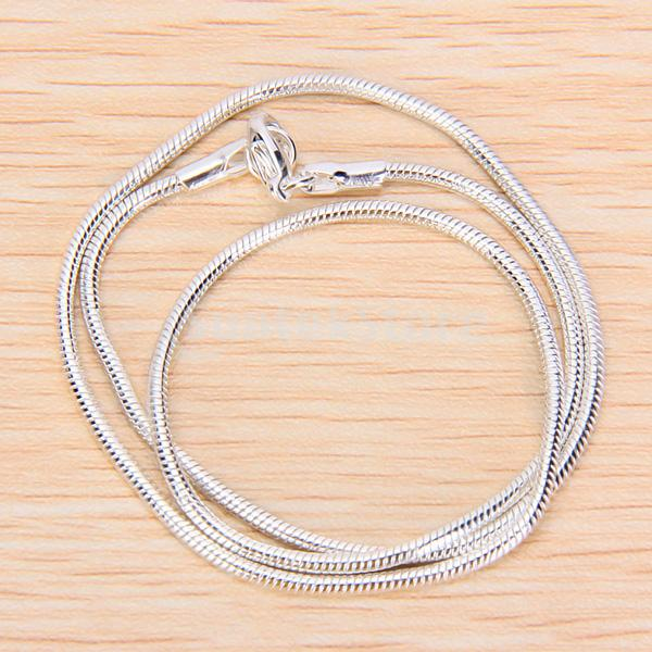 New 2015 Brand New 22 Inch Silver Snake Chain Necklace Free Shipping(China (Mainland))