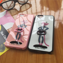 New Mobile Phone Acrylic Soft Cartoon Case For Apple Iphone6 6s Case Back Case Cover Caryoon Pattern With The Ring Holder